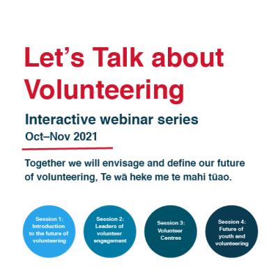 WEBINAR SERIES: Let's Talk About Volunteering